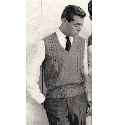 Knitting Pattern Men S Sweater Vest | mens sweater vest knitting pattern