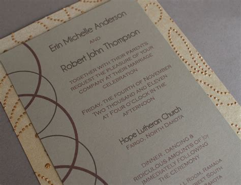 Wedding Invitations Fargo Nd by The Circles Collection Fargo Moorhead Wedding