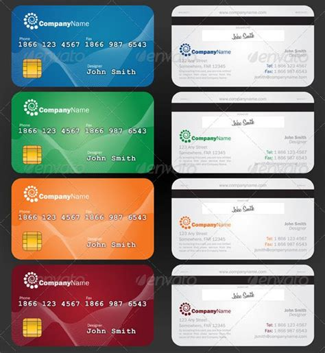 credit card templates 10 cool credit card business cards for a unique brand
