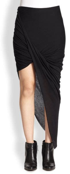 asymmetrical draped skirt helmut lang helmut asymmetrical draped jersey skirt in