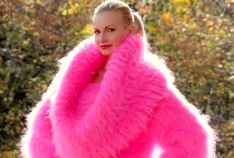 gorgeous thick and fuzzy knitted mohair - Angora Mohair