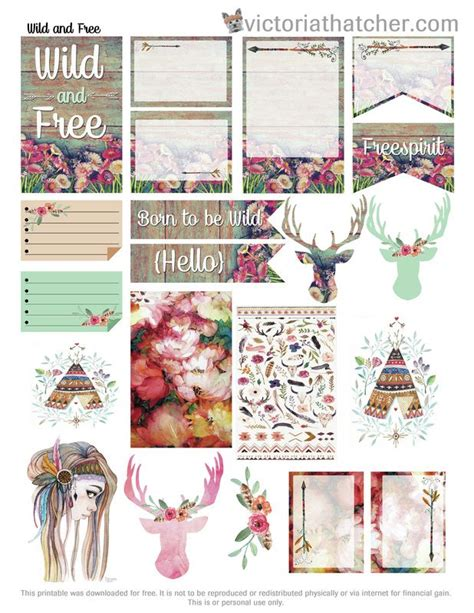 free printable journal stickers free printable wild free planner stickers from victoria