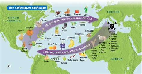 columbian exchange map imperialism s silver lining