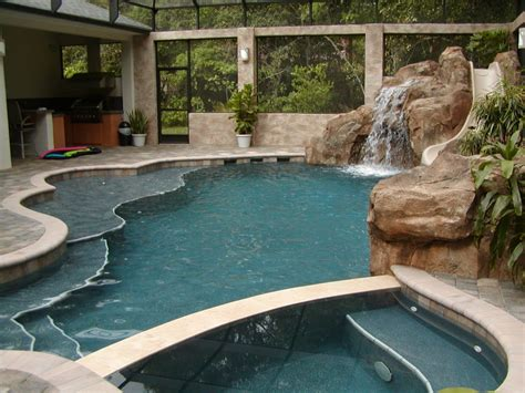 freeform pools free form pool with slide all aqua pools