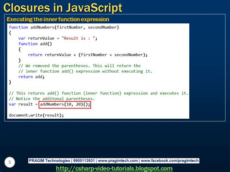 javascript tutorial closure sql server net and c video tutorial closures in javascript