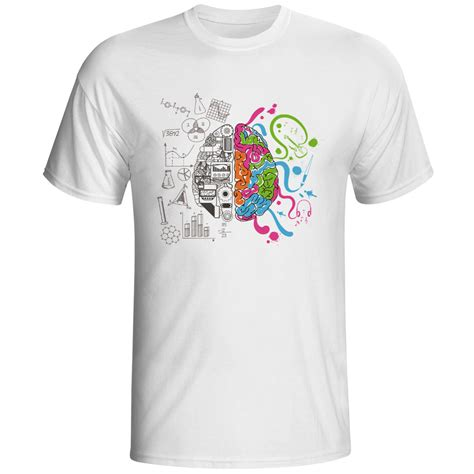 Tees Oh Go Buy A Brain aliexpress buy left and right brain t shirt design inspired by t shirt style cool