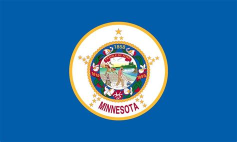 Minnesota State Flag Coloring Pages Usa For Kids Minnesota State Flag Coloring Page