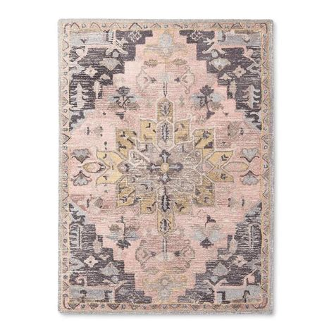 gray and pink area rug camila pink purple tufted area rug