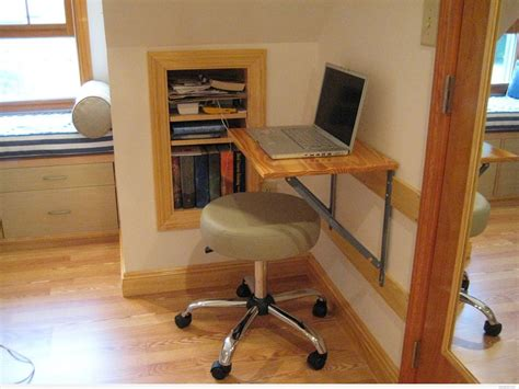Built In Corner Desk Ideas Simple Diy Corner Wall Mounted Folding Desk With Leather Chair And Wall Built In Bookshelf
