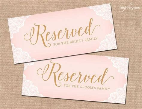 reserved cards for tables templates 1000 images about printable wedding downloads on place card template and