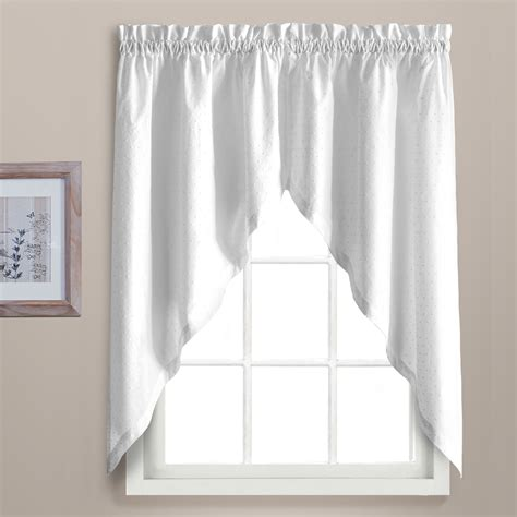 kitchen swag curtains dorothy kitchen curtain swag white linens4less