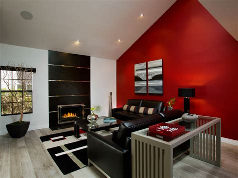 red walls living room living room living room with red accents brown living