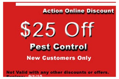 discount coupons for do it yourself pest control