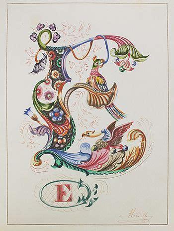 Illuminated Letter E
