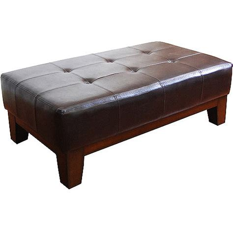 leather rectangle ottoman rectangle cocktail ottoman multiple colors walmart com
