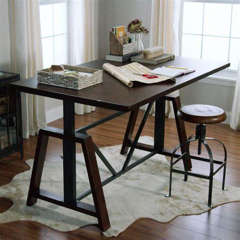adjustable height kitchen table wood braylen adjustable height work table market