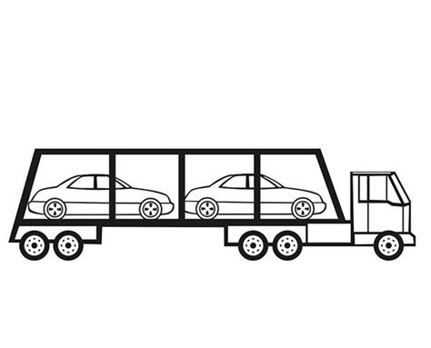 car carrier coloring page cars carrier car transporter coloring pages best place