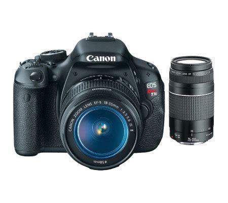 len qvc canon t3i 18mp dslr kit with 75 300mm lens qvc