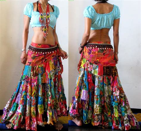 Patchwork Skirt - free worldwide shipping no minimum order ethnic