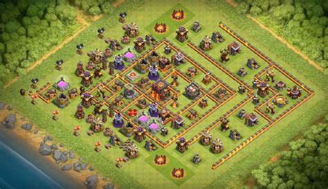 clash of clans th10 trophy layout th10 war base trophy farming base layouts