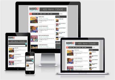 free blogger themes one column harderly responsive blogger template 2014 free blogger