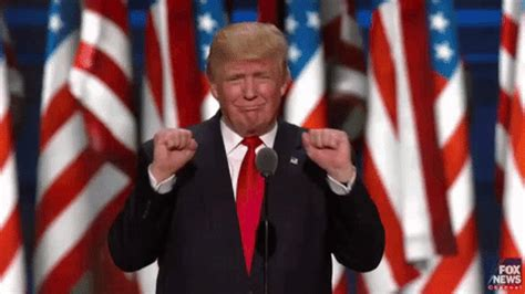 donald trump gif this single gif sums up trump s 5 302 word speech