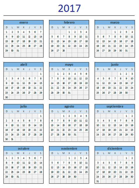 Calendario 2017 Excel Descargar Descarga El Estupendo Calendario 2017 De Excel Total