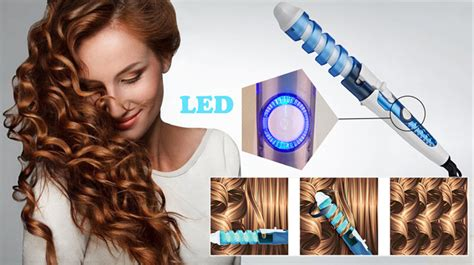 Automatic Spiral Curler And Ceramic Hair Styler Catok Pengeriting automatic spiral curler and ceramic hair styler catok pengeriting rambut otomatis purple