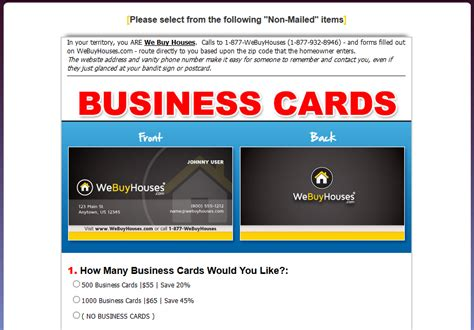 We Buy Gift Card - we buy houses business cards template