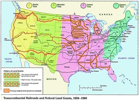 map of usa in 1850 1850 1900 transcontinental railroad and federal land