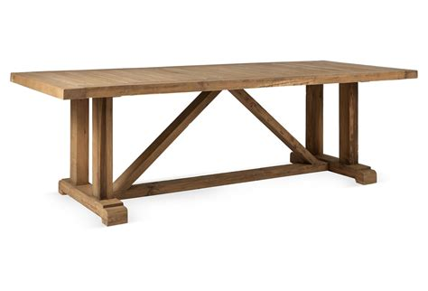 8 Ft Reclaimed Solid Wood Trestle Style Dining Table Vintage Trestle Style Dining Table