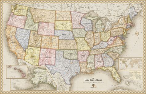 antique state maps usa antique wall map maps