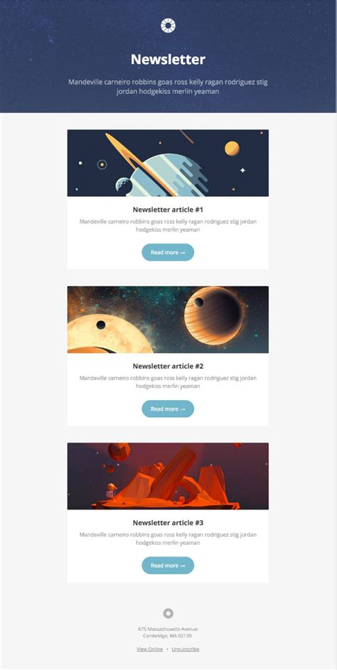 newsletter email templates 9 places to find quality email newsletter templates in 2017