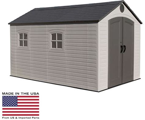Lifetime Shed Parts by Lifetime 8x12 Plastic Storage Shed W Floor 6402