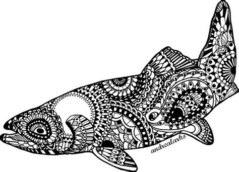trout fish coloring pages 17 images about zentangles coloring pages on pinterest