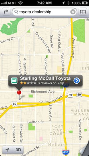 nearest toyota dealership to my location in which apple maps leads me astray updated techblog