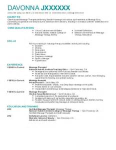 Massage Therapist Sample Resume Massage Therapy Resume Examples Beauty And Spa Resumes