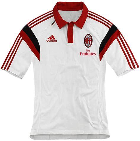 Tshirt Kaos Baju Adidas 14 polo shirt ac milan white 2014 2015 big match jersey