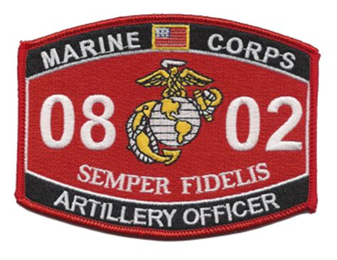 Marine Corps Officer Mos by Artillery Officer Marine Corps Mos 0802 5 Quot Patch