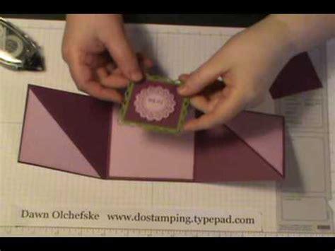 how to make a tri fold card triangle tri fold card