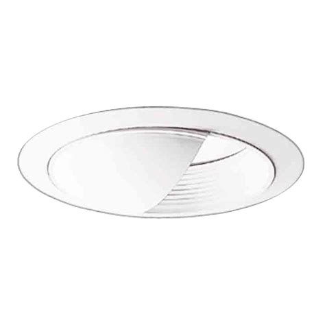 Ceiling Light Reflector Halo 6 In White Recessed Ceiling Light Baffle Wall Wash And Reflector Trim 430w The Home Depot