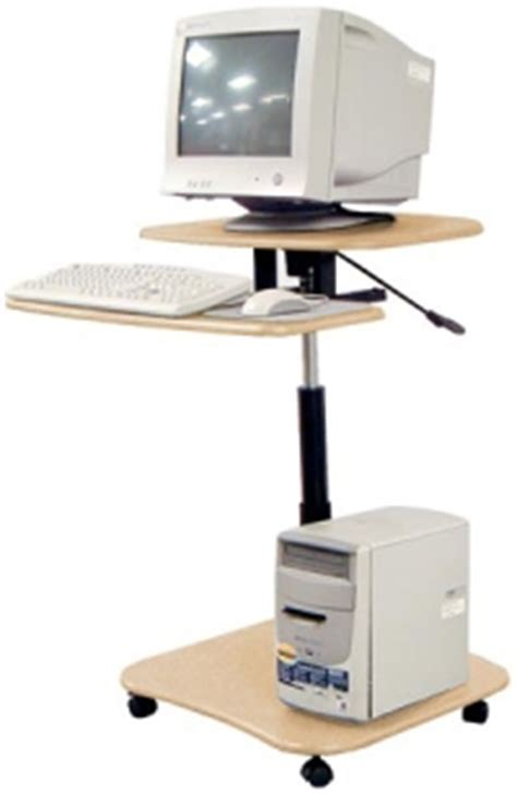 Hydraulic Computer Desk Information About 1 Computerdesks Cuzzi Compact Computer Desks Carts And Lcd Monitor Mounts