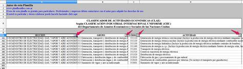 clae clasificador de actividades economicas archives planillas 218 tiles clasificador de actividades econ 243 micas