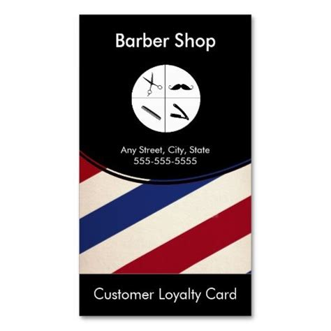 Barber Business Card Template by Barber Shop Loyalty Business Card Punch Card This Is A