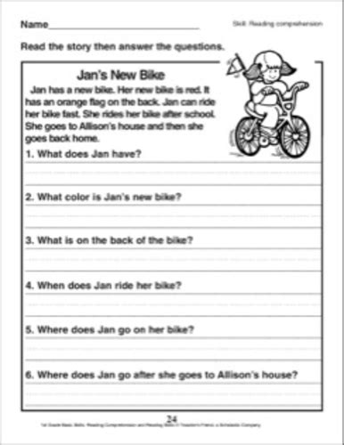 Reading Comprehension Worksheets Grade 2 by Comprehension Grade 2 Lesupercoin Printables Worksheets