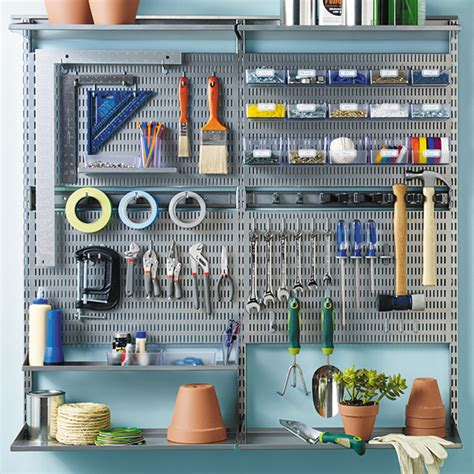 Elfa Garage Shelving Platinum Elfa Utility Wall Garage Organization Walls