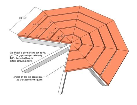 25 best ideas about octagon picnic table on pinterest round picnic table picnic table plans