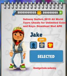 Surfers cheats for unlimited money coins life amp keys download apk