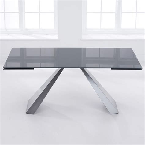 extending large grey effect glass dining table and hygena extending glass dining table in grey with metal