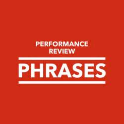 performance review phrases performancereviews net